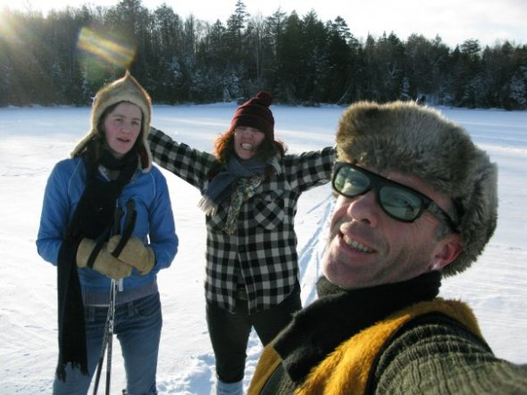 Self(ish) Portrait: On the Loken Trail with Kathleen & Lily, Christmas '08